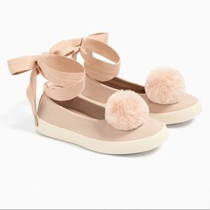 Zara Girls-Pom Sneakers